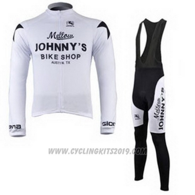 2010 Cycling Jersey Johnnys Black and White Long Sleeve and Bib Tight
