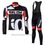 2010 Cycling Jersey Pearl Izumi Black and White Long Sleeve and Bib Tight