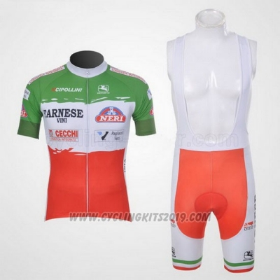 2011 Cycling Jersey Giordana Red and Green Short Sleeve and Bib Short