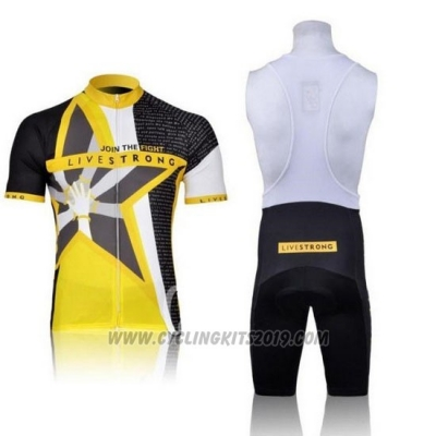 2011 Cycling Jersey Livestrong Yellow Short Sleeve and Bib Short