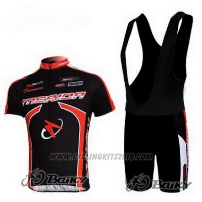 2011 Cycling Jersey Merida Black Short Sleeve and Bib Short