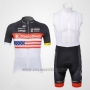2012 Cycling Jersey Radioshack Campione The United States Short Sleeve and Bib Short