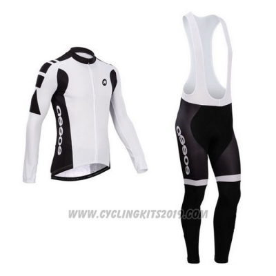 2014 Cycling Jersey Assos White Long Sleeve and Bib Tight