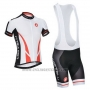 2014 Cycling Jersey Castelli White Short Sleeve and Bib Short