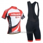 2014 Cycling Jersey Monton White and Red Short Sleeve and Bib Short