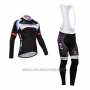 2014 Cycling Jersey Nalini Black Long Sleeve and Salopette