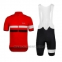 2015 Cycling Jersey Rapha Black and Red Short Sleeve and Bib Short