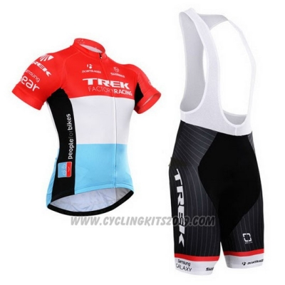 2015 Cycling Jersey Trek Factory Racing Factory Racing White Red Short Sleeve and Bib Short