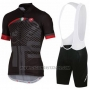 2016 Cycling Jersey Castelli Black and Gray Short Sleeve and Bib Short