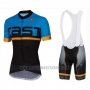 2016 Cycling Jersey Castelli Blue Black Short Sleeve and Bib Short