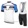 2016 Cycling Jersey Nalini Blue and White Short Sleeve and Salopette