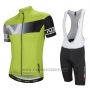 2016 Cycling Jersey Nalini Light Green Short Sleeve and Salopette