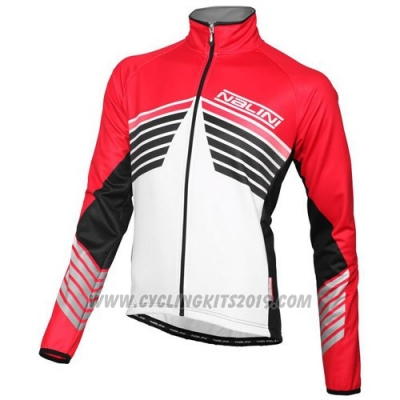 2016 Cycling Jersey Nalini White and Red Long Sleeve and Salopette