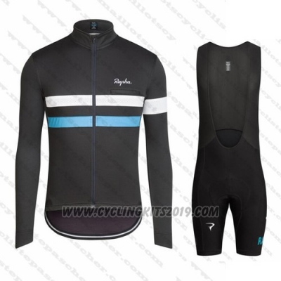 2016 Cycling Jersey Rapha Black and White Short Sleeve and Bib Short