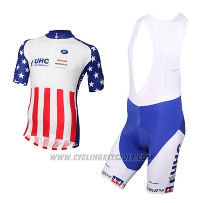 2016 Cycling Jersey United Healthcare Red and White Short Sleeve and Bib Short