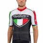 2016 Cycling Jersey Wieiev Black and White Short Sleeve and Bib Short