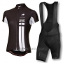 2016 Cycling Jersey Women Assos Black Short Sleeve and Bib Short