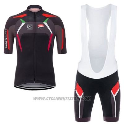 2017 Cycling Jersey Ducati Corse Black Short Sleeve and Bib Short