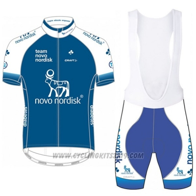 2017 Cycling Jersey Novo Nordisk Blue Short Sleeve and Bib Short