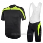 2017 Cycling Jersey RH+ Black and Green Short Sleeve and Bib Short