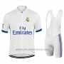 2017 Cycling Jersey Real Madrid White Short Sleeve and Bib Short