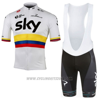 2017 Cycling Jersey Sky UCI Mondo Campione Manica Short Sleeve and Bib Short