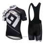2018 Cycling Jersey ALE Black and White Short Sleeve and Bib Short