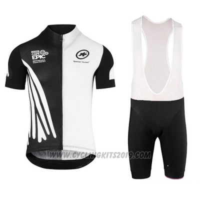 2018 Cycling Jersey Assos SS.Capeepicxc White Short Sleeve and Bib Short