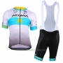 2018 Cycling Jersey Astana White Blue Short Sleeve and Bib Short