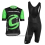 2018 Cycling Jersey Cannondale Factory Rancing Green and Black Short Sleeve and Bib Short