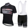 2018 Cycling Jersey Giant Black and Gray Short Sleeve and Bib Short