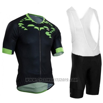 2018 Cycling Jersey Sugoi RS Training Black and Green Short Sleeve and Bib Short