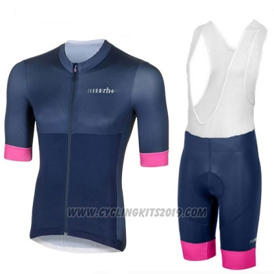 2018 Cycling Jersey Women RH+ Dark Blue Short Sleeve and Bib Short