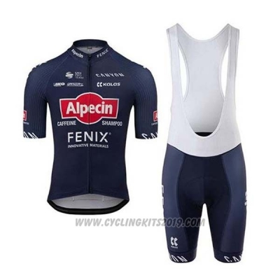2020 Cycling Jersey Alpecin Fenix Blue Red Short Sleeve and Bib Short
