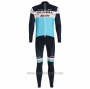 2020 Cycling Jersey DE Pink Sky Blue Long Sleeve and Bib Tight