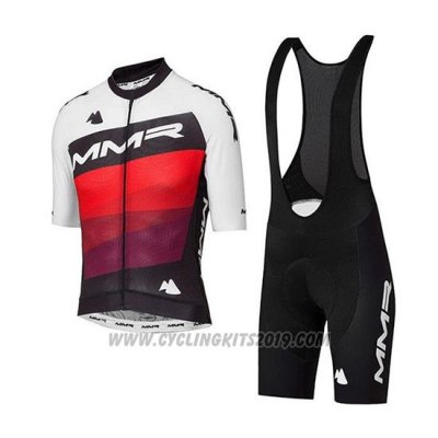 2020 Cycling Jersey MMR White Black Red Short Sleeve and Bib Short