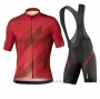2020 Cycling Jersey Mavic Black Red Short Sleeve and Bib Short