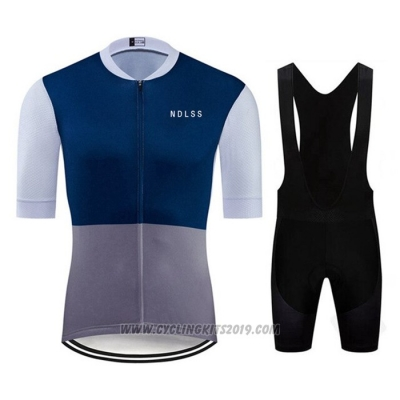 2020 Cycling Jersey Ndlss Gray Blue Short Sleeve and Bib Short
