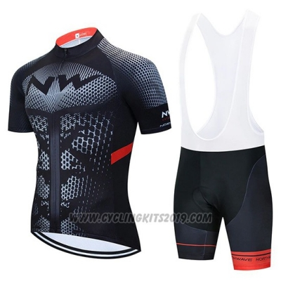 2020 Cycling Jersey Northwave Black Yellow Red Short Sleeve and Bib Short