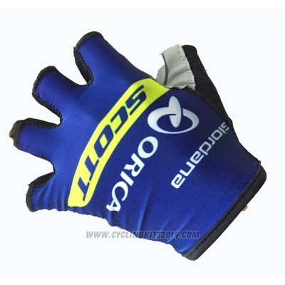 2020 Orica Scott Gloves Cycling Blue