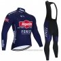2021 Cycling Jersey Alpecin Fenix Deep Blue Long Sleeve and Bib Tight