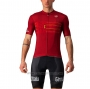 2021 Cycling Jersey Giro D'italy Red Short Sleeve and Bib Short