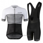2021 Cycling Jersey Le Col Black White Short Sleeve and Bib Short