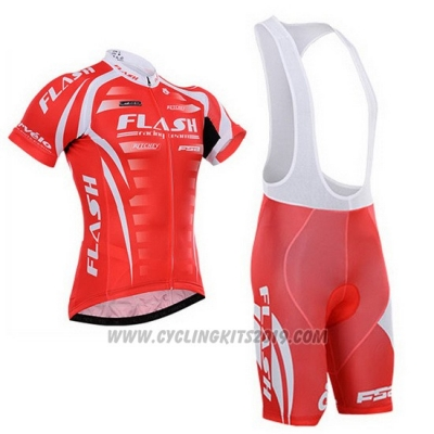 Cycling Jersey To The Fore Red and White Short Sleeve and Bib Short