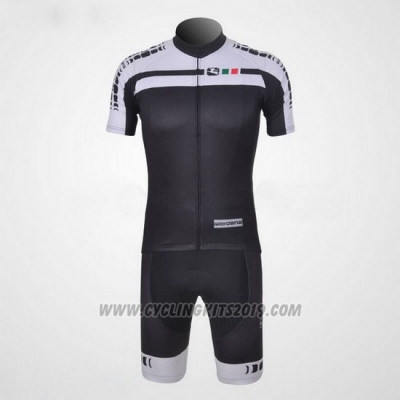 2011 Cycling Jersey Giordana White and Black Short Sleeve and Bib Short