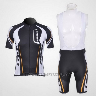 2011 Cycling Jersey Look Black and White Short Sleeve and Bib Short
