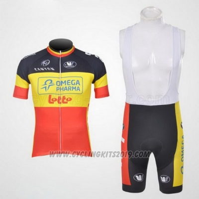 2011 Cycling Jersey Omega Pharma Lotto Campione Belga Short Sleeve and Bib Short