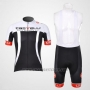 2012 Cycling Jersey Castelli White and Black Short Sleeve and Bib Short