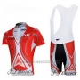 2012 Cycling Jersey Nalini Red and White Short Sleeve and Salopette