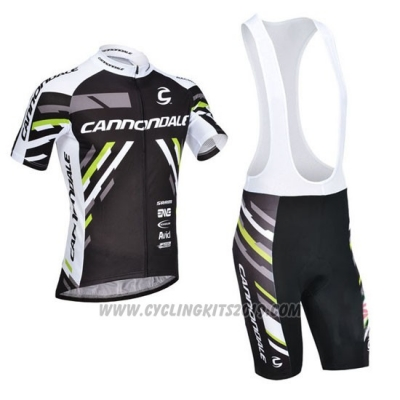 2013 Cycling Jersey Cannondale Black Short Sleeve and Bib Short